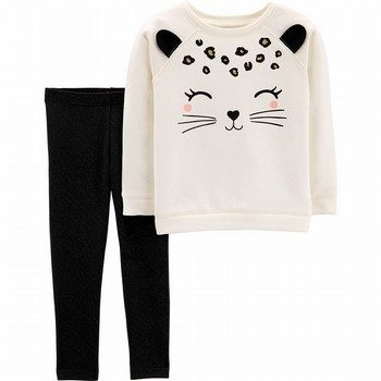 Carter's 2PC Cat Fleece Top & Legging Set
