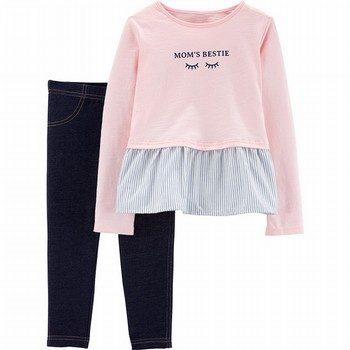 Carter's 2PC Mom's Bestie Peplum Top & Jegging Set