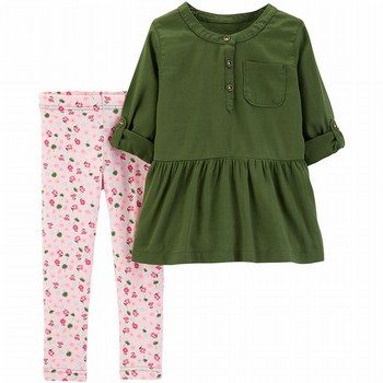 Carter's 2PC Sateen Top & Rose Legging Set