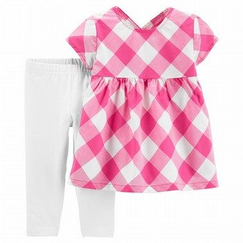 Carter's 2PC Gingham Top & Capri Legging Set