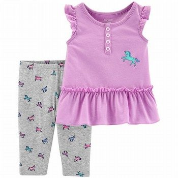 Carter's 2PC Unicorn Tank & Capri Legging Set