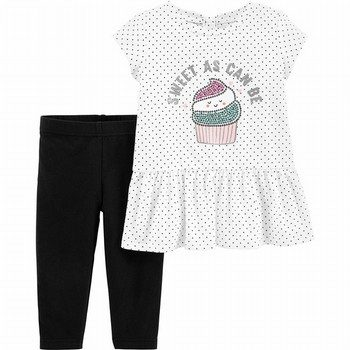 Carter's 2PC Cupcake Peplum Top & Legging Set
