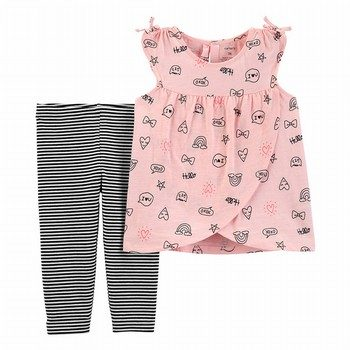 Carter's 2PC Cross-Front Tank & Capri Legging Set