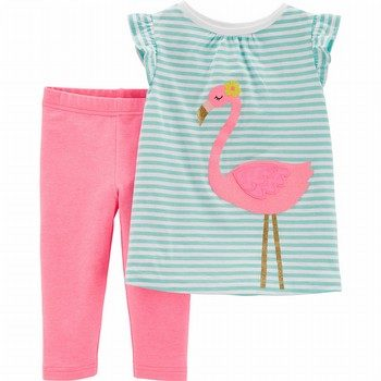 Carter's 2PC Flamingo Top & Capri Legging Set