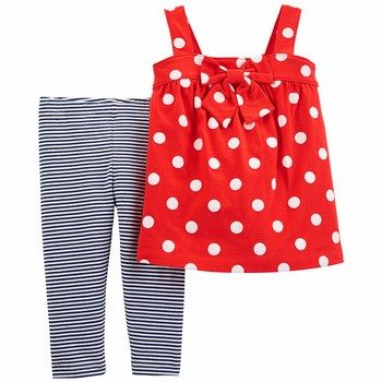 Carter's 2PC Polka Dot Tank & Striped Tumbling Short Set