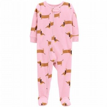 Carter's Zip-Up Fleece Onepiece Footed PJs