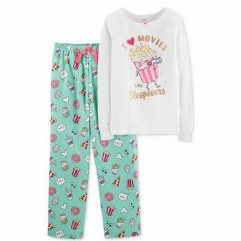 Carter's 2PC Snug Fit Cotton Top & Fleece Pant PJs