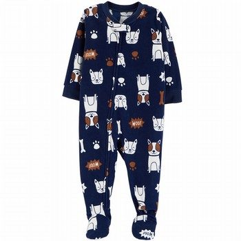 Carter's Snug Fit Fleece Onepiece Footed PJs