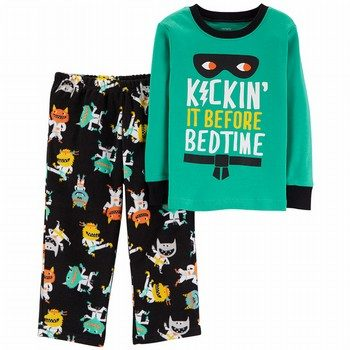 Carter's 2PC Monster Snug Fit Cotton & Fleece PJs