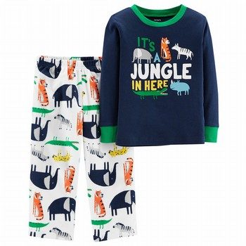 Carter's 2PC Jungle Snug Fit Cotton & Fleece PJs