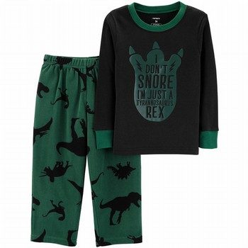 Carter's 2PC Dinosaur Snug Fit Cotton & Fleece PJs