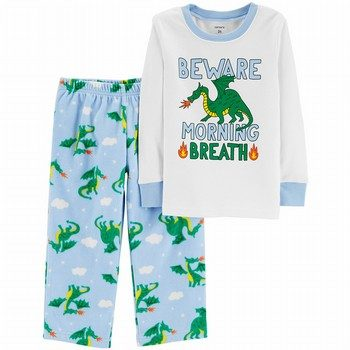 Carter's 2PC Dragon Snug Fit Cotton & Fleece PJs