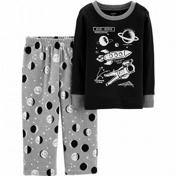 Carter's 2PC Glow-In-The-Dark Cotton & Fleece PJs