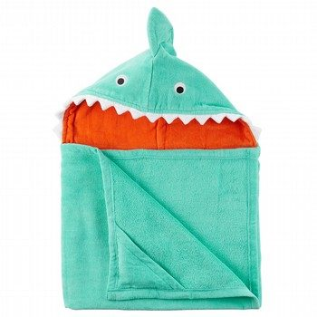 Carter's Shark Velour Hooded Towel