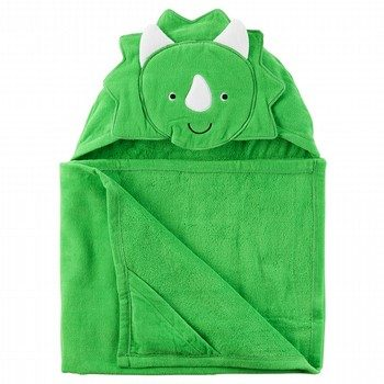 Carter's Dinosaur Velour Hooded Towel
