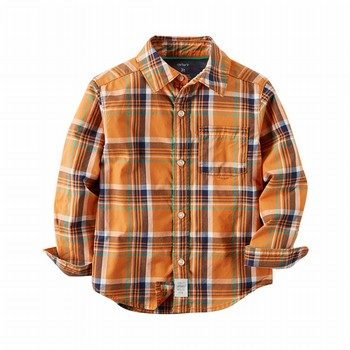 Carter's Poplin Plaid Button-Front Shirt