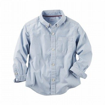 Carter's Poplin Striped Button-Front Shirt