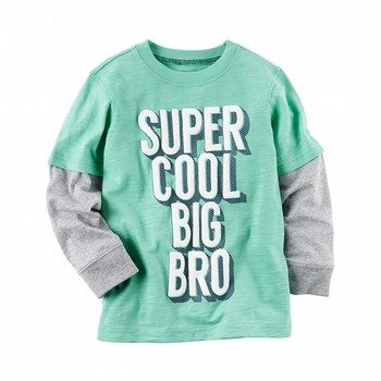 Carter's L/S Layered-Look Graphic Tee