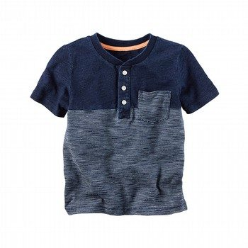 Carter's Indigo Striped Henley