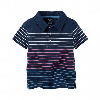 Carter's Striped Slub Jersey Polo