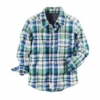 Carter's Plaid Button-Front Shirt