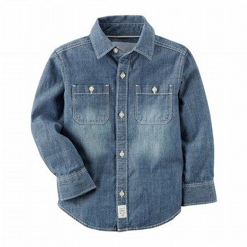 Carter's Chambray Button-Front L/S Shirt