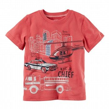 Carter's Metallic Firetruck Graphic Tee