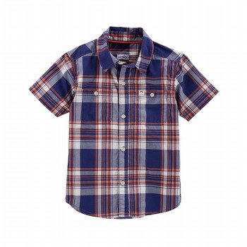 Carter's Plaid Poplin Button-Front Shirt