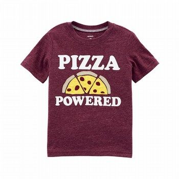 Carter's Pizza Powered Textured Tee
