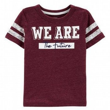 Carter's We Are The Future Snow Yarn Varsity Tee