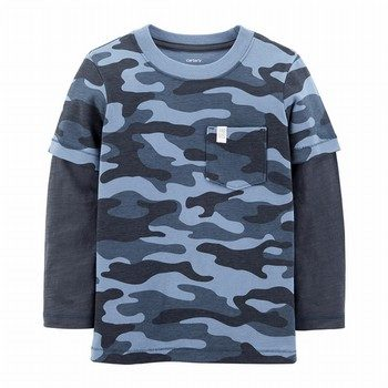Carters TBoy Double Decker Tee Blue Camo