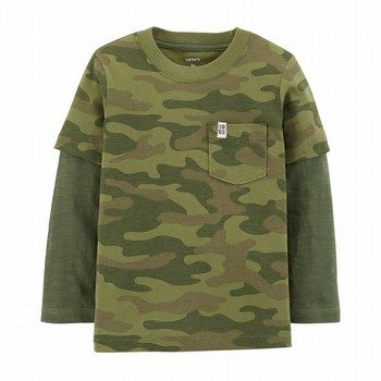 Carters TBoy Double Decker Tee Green Cam