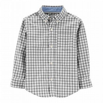 Carter's Checkered Poplin Button-Front Shirt