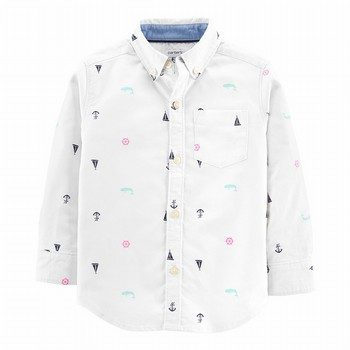 Carter's Sailboat Oxford Button-Front Shirt