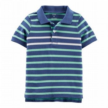 Carter's Striped Pique Polo