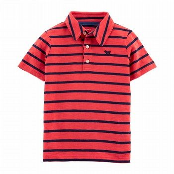 Carter's Striped Dog Slub Jersey Polo