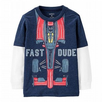 Carter's Fast Dude Layered-Look Tee