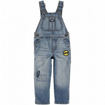 OshKosh B'gosh Emoji Patch Denim Overalls