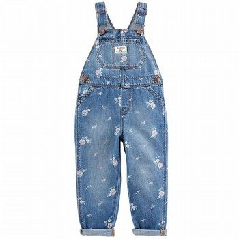 OshKosh B'gosh Denim Floral Overalls