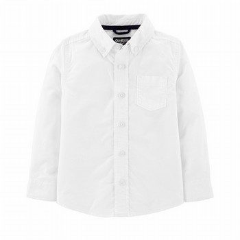 OshKosh B'gosh Button-Front Poplin L/S Shirt