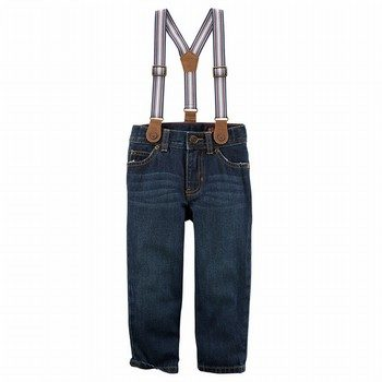 Carter's 5-Pocket Straight Jeans with Suspenders