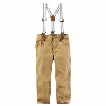 Carter's 5-Pocket Canvas Pants with Suspenders