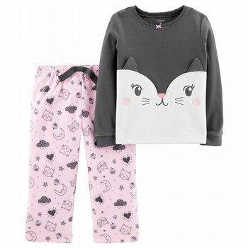 Carter's 2PC Cat Fleece PJs