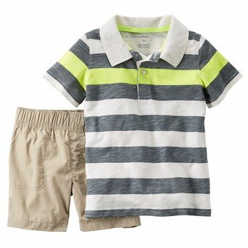 Carter's 2PC Stripe Polo & Short Set