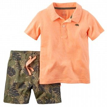 Carter's 2PC Neon Polo & Short Set