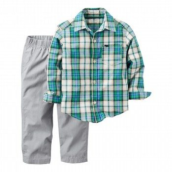 Carter's 2PC Plaid Shirt & Pant Set