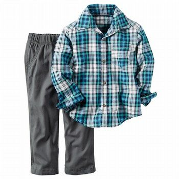 Carter's 2PC Shirt & Canvas Pant Set