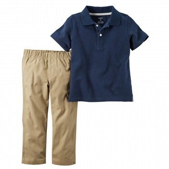 Carter's 2PC Polo & Pant Uniform Set