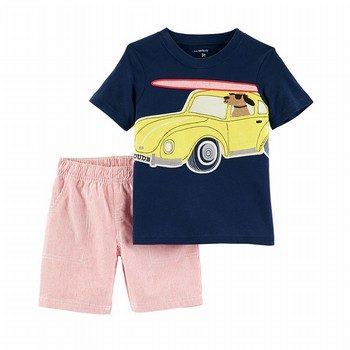 Carter's 2PC Jersey Tee & Striped Short Set
