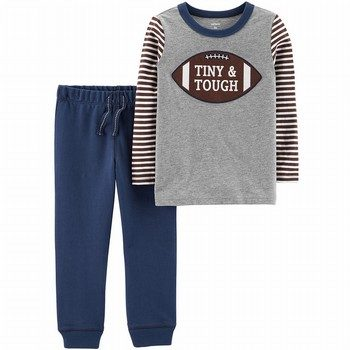 Carter's 2-Piece Football Tee & French Terry Jogger Set